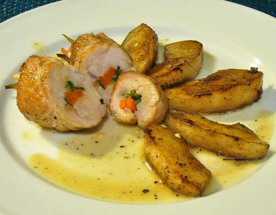 Ρολά κοτόπουλου με λαχανικά αλά Pandespani