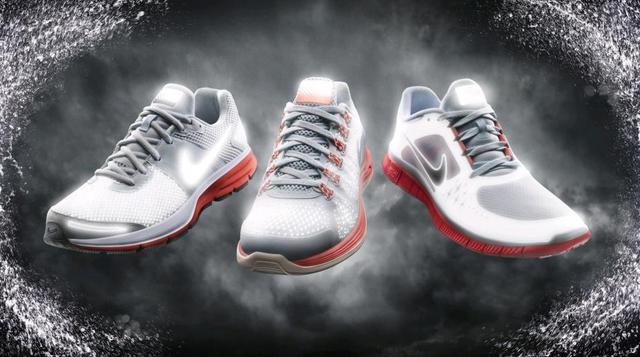 Η συλλογή περιλαμβάνει τα Nike LunarGlide+, Nike Free Run+ και Nike Air Pegasus+.