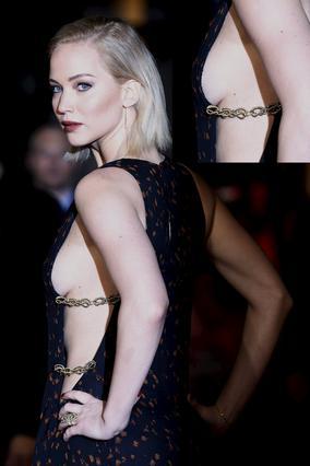 Τζένιφερ Λόρενς: Δείχνει στήθος σε νέα σέξι εμφάνιση [photos]