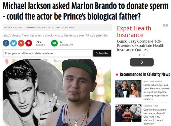 Ο Μάρλον Μπράντο βιολογικός πατέρας του γιου του Μάικλ Τζάκσον