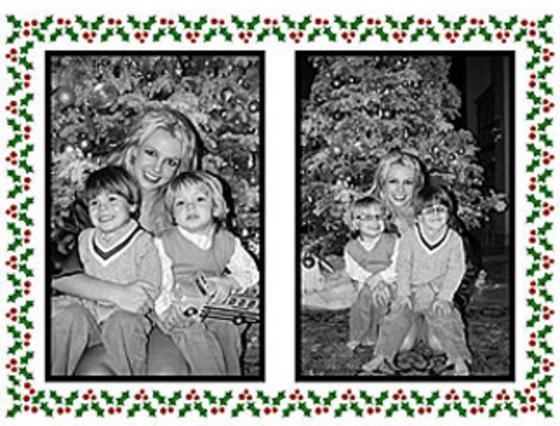 Η Χριστουγεννιάτικη κάρτα της Μπρίτνεϊ με τα παιδάκια της αγκαλιά.
