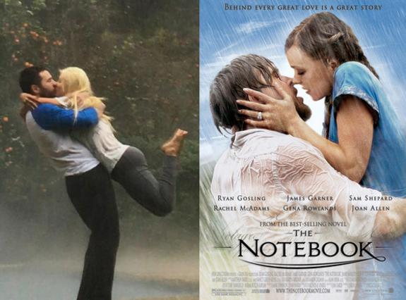 Κριστίνα Αγκιλέρα & αρραβωνιαστικός σε στιγμές  Notebook  [photo]
