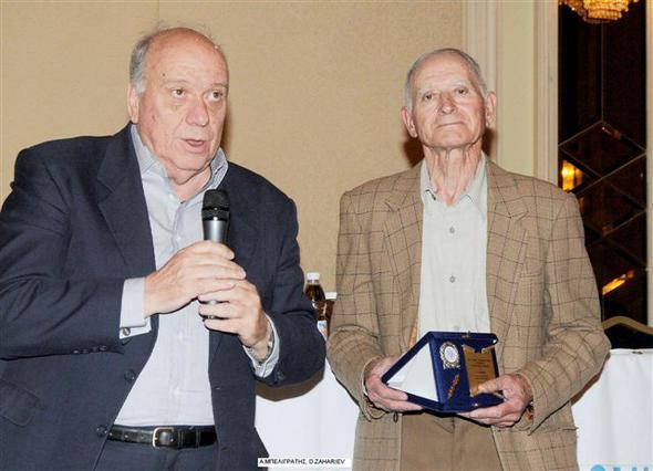 Ο πρόεδρος της ΕΟΠΕ Θανάσης Μπελιγράτης με τον Ντμίτρι Ζαχάριεφ