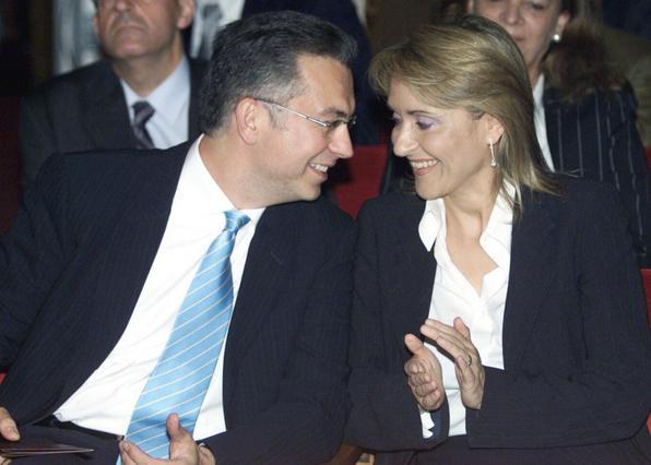 Ρουσόπουλος- Ζαχαρέα: Σε σπάνια εμφάνιση με τα παιδιά τους [photos]