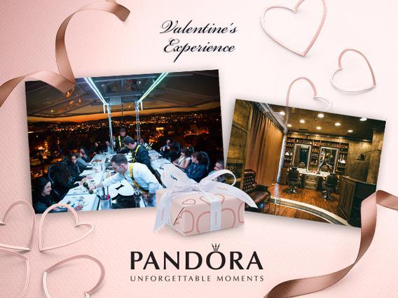 PANDORA «Dinner in The Sky»  Μια  μοναδική εμπειρία για τους ερωτευμένους ειδικά σχεδιασμένη από την PANDORA