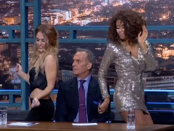 Ο καυτός χορός της Shaya  αναστάτωσε  τον Κωστόπουλο [vds]