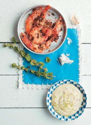 Πικάντικες γαρίδες με χοντρό αλάτι