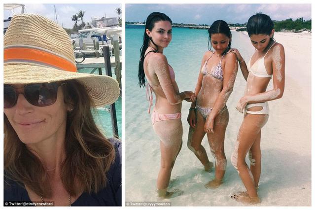 Σιντι Κρόφορντ και οικογένεια διασκεδάζουν στις Μπαχάμες [photos]