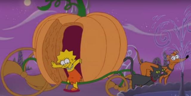 Όταν η μαγεία της Disney  τρύπωσε  στους Simpsons... [vds]