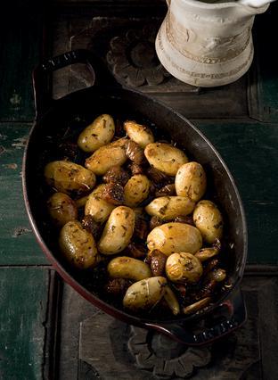 Ψητές πατάτες με αρωματισμένα σύκα