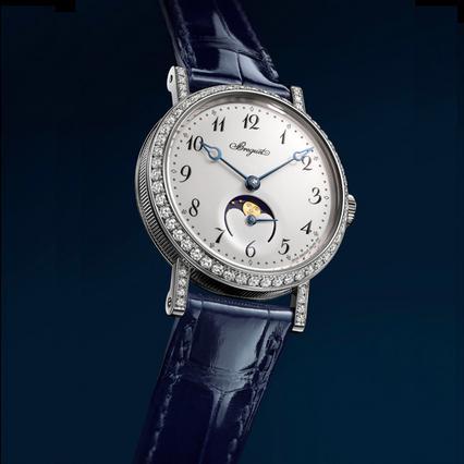 Η Breguet εμπλουτίζει την γυναικεία συλλογή της με το ρολόι Classique Phase de Lune Dame 9088 αποπνέοντας διαχρονική κομψότητα