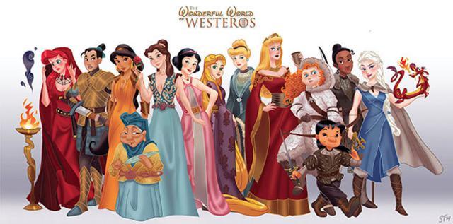 13 πριγκίπισσες του Ντίσνεϊ αλά Game of Thrones