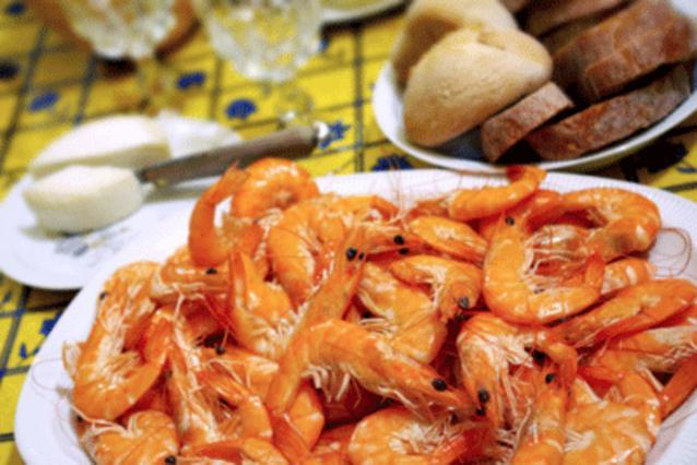 Γαρίδες με σάλτσα