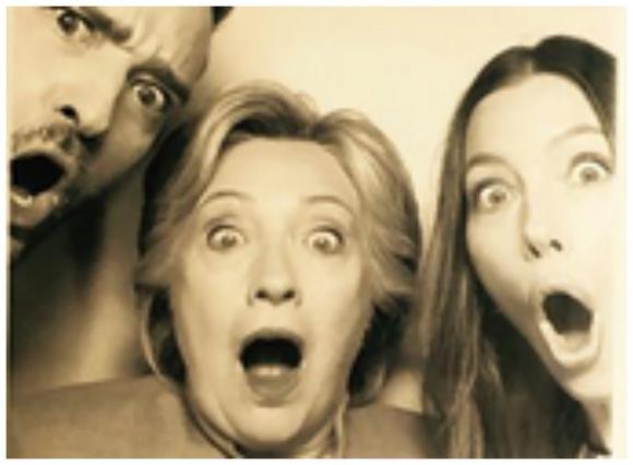 Ο Τίμπερλεϊκ, η Μπίελ και οι σαχλές γκριμάτσες με τη Χίλαρι Κλίντον [photos]
