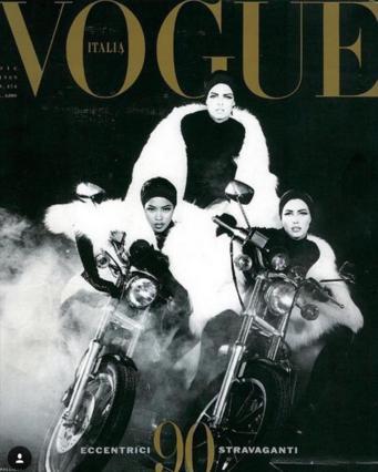 Ναόμι Κάμπελ, Λίντα Εβαντζελίστα & Κρίστι Τέρλινγκτον μαζί, 27 χρόνια μετά [photo]