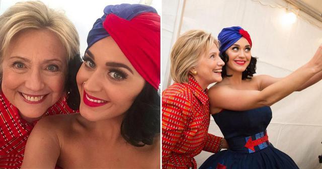 Η Κέιτι Πέρι ποστάρει γυμνή selfie για τη Χίλαρι Κλίντον [photo]