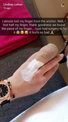 Στο χειρουργείο επειγόντως η Λίντσεϊ Λόχαν -Έχασε το μισό της δάχτυλο [photo]