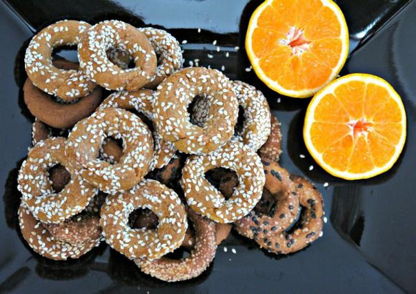 Kουλουράκια με ελαιόλαδο και πορτοκάλι αλά Pandespani