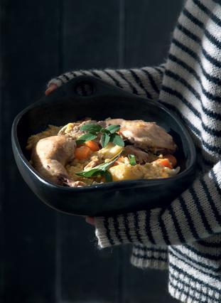 Κρέας και κοτόπουλο με ρεβίθια