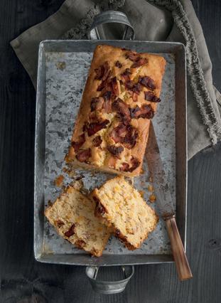 Ψωμί με καλαμπόκι και μπέικον