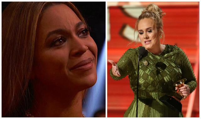 Grammys 2017: Πώς έκανε η Αντέλ ρεζίλι την Μπιγιoνσέ χωρίς να το καταλάβει [photos & vds]