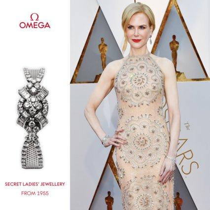Η Nicole Kidman φοράει ένα vintage OMEGA στα Oscars