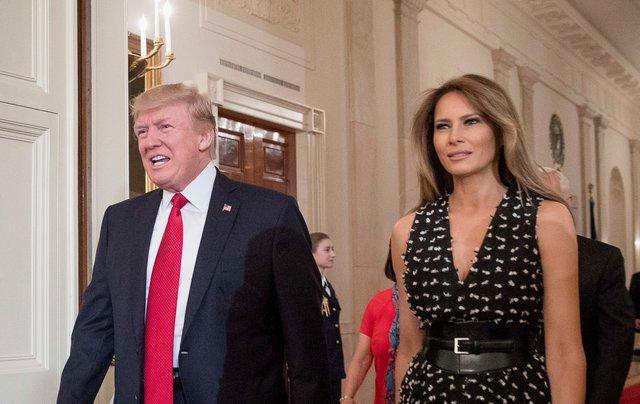 <p>Donald Trump and Melania Trump (AP Photo/Andrew Harnik)</p>