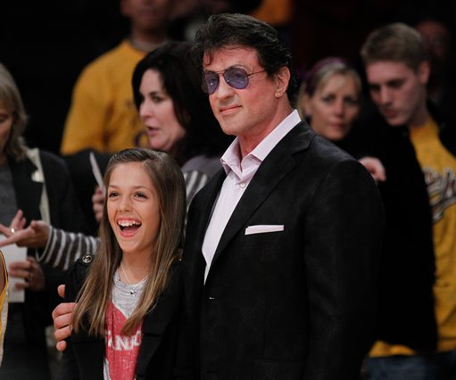 <p>Sylvester Stallone and his daughter Sistine Rose Stallone (AP Photo/Chris Carlson)</p>