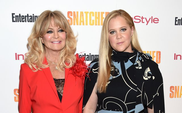 <p>Goldie Hawn and Amy Schumer (Photo by Evan Agostini/Invision/AP)</p>