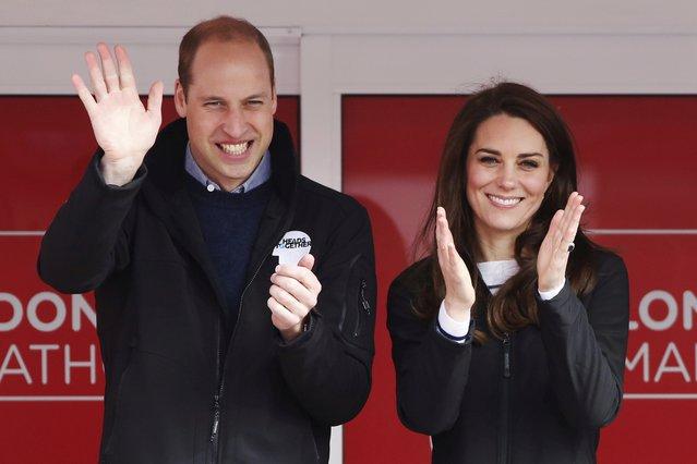 <p>Prince William and Kate (Luke MacGregor/Pool via AP)</p>