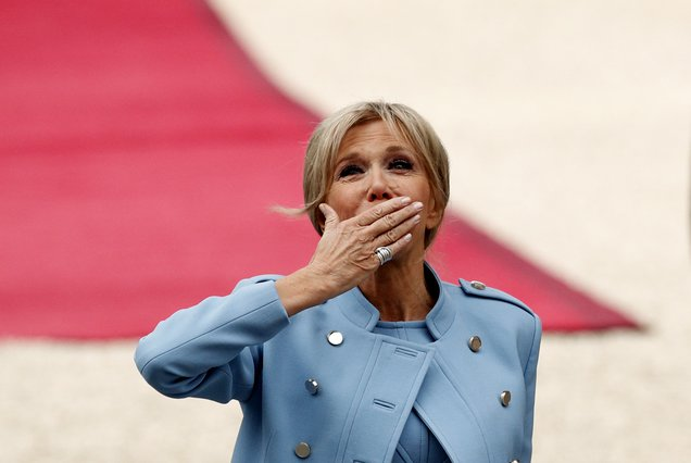 <p>Brigitte Macron (Yoan Valat, Pool via AP)</p>