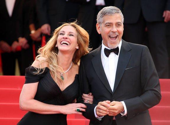 <p>Julia Roberts and George Clooney (AP Photo/Joel Ryan)</p>