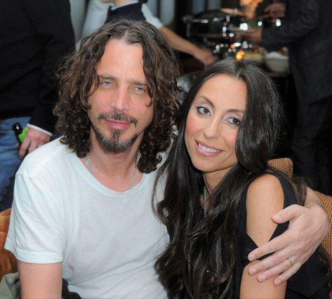 <p>Chris Cornell and Vicky Karayiannis (AP Photo/Katy Winn)</p>