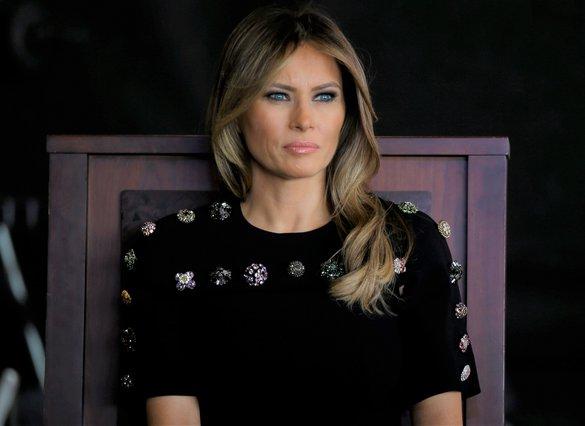 <p>Melania Trump (AP Photo/Luca Bruno)</p>
