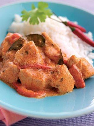 Κοτόπουλο με σάλτσα πιπεριάς