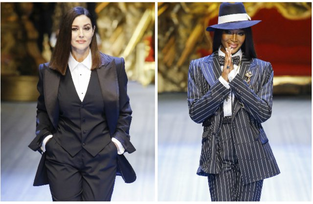 Monica Bellucci - Naomi Campbell: Ξανά μαζί σε ανδρικό (!) fashion show[photos]