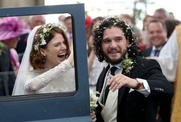 Kit Harington - Rose Leslie: Παντρεύτηκαν οι πρωταγωνιστές του Game of thrones