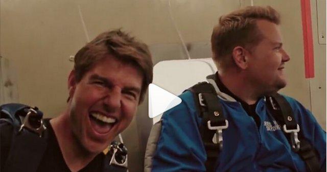Επικό: Ο Tom Cruise σε ελεύθερη πτώση και στους ρόλους της ζωής του με τον James Corden [video]