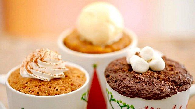 Ό,τι πρέπει για τον καφέ σου! Χειμωνιάτικο κέικ στην κούπα με τζίντζερ και κανέλα