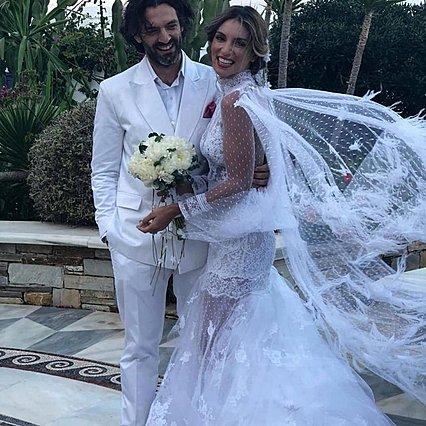 Αθηνά Οικονομάκου - Φίλιππος Μιχόπουλος: Οι επώνυμοι που έδωσαν το παρών στο γάμο τους