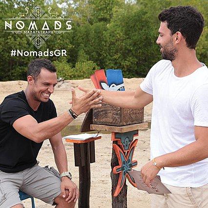 <p>Σάββας Πούμπουρας και Γιώργος Λέντζας: Οι παρουσιαστές του Nomads για φέτος.</p>