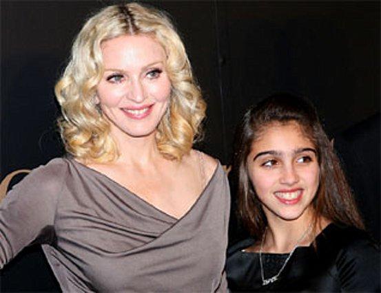 Η Μαντόνα με την κόρη της Λούρδη.