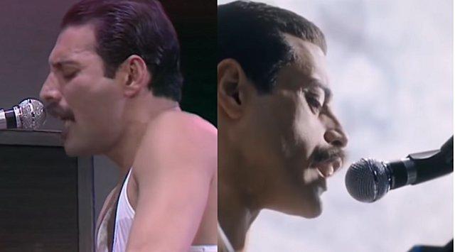 Freddie Mercury - Rami Malek: Καρέ καρέ οι ερμηνείες τους στο Live Aid [video]