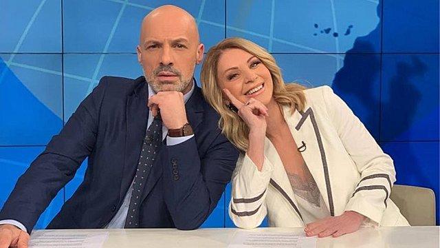 Έλλη Στάη-Νίκος Μουτσινάς: H τηλεοπτική  συνάντηση  που θα μείνει στην ιστορία! [Bίντεο]
