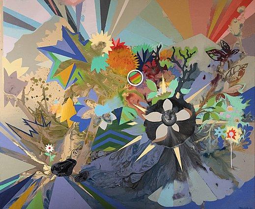 """Η αίθουσα τέχνης Artshot - Sophia Gaitani παρουσιάζει την ατομική έκθεση ζωγραφικής με τίτλο """"Συγχρονισμοί , του Θανάση Μπάθα."""
