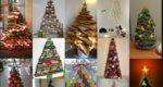 16 εύκολα, ανέξοδα, εναλλακτικά DIY χριστουγεννιάτικα δέντρα