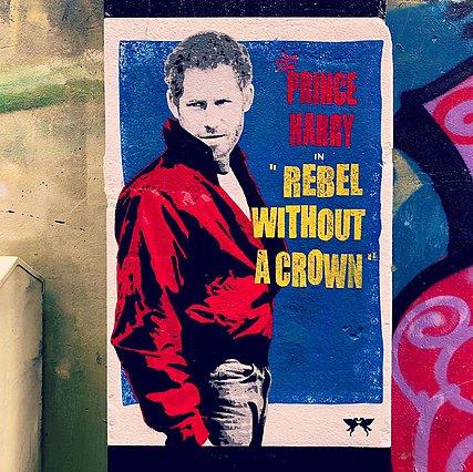 Επαναστάτης χωρίς στέμμα : Ο πρίγκιπας Harry έγινε τοιχογραφία αλά James Dean