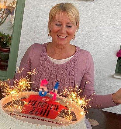 <p>Η φωτογραφία αυτή είναι από τα 54α γενέθλιά της, που γιόρτασε τον περασμένο Απρίλιο.</p>
