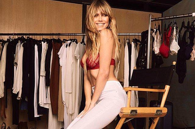 Η Heidi Klum έφαγε τόσο πολύ που η κοιλιά της πρήστηκε σαν τη... δική σου!!!