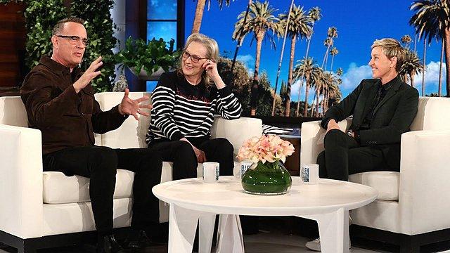 <p>Tom Hanks και Meryl Streep. Δύο διάσημοι Καρκίνοι στην εκπομπή της Ellen DeGeneres</p>